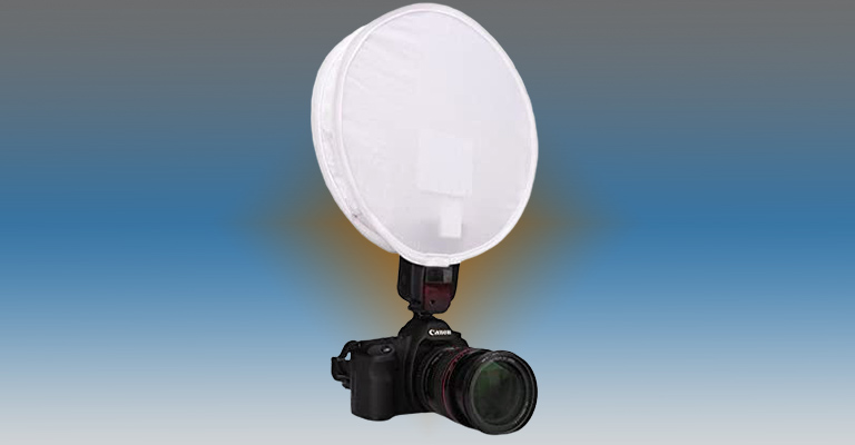 "Inseesi 11.8"" 30cm Round Portable Softbox White-Balance Diffuser 1"