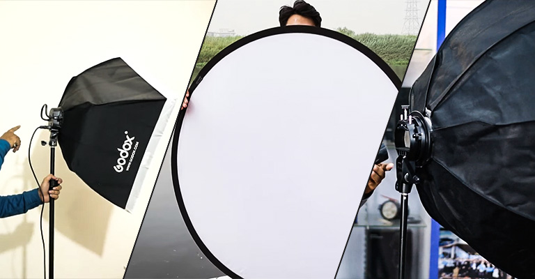 Octabox vs. Softbox vs. Reflector